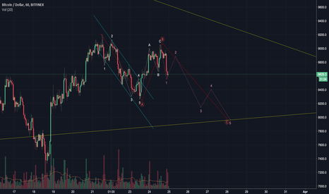 BTCUSD: BTCUSD lower low - updated count
