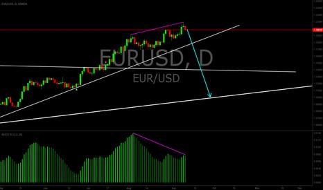 EURUSD: EURUSD possible short reversal