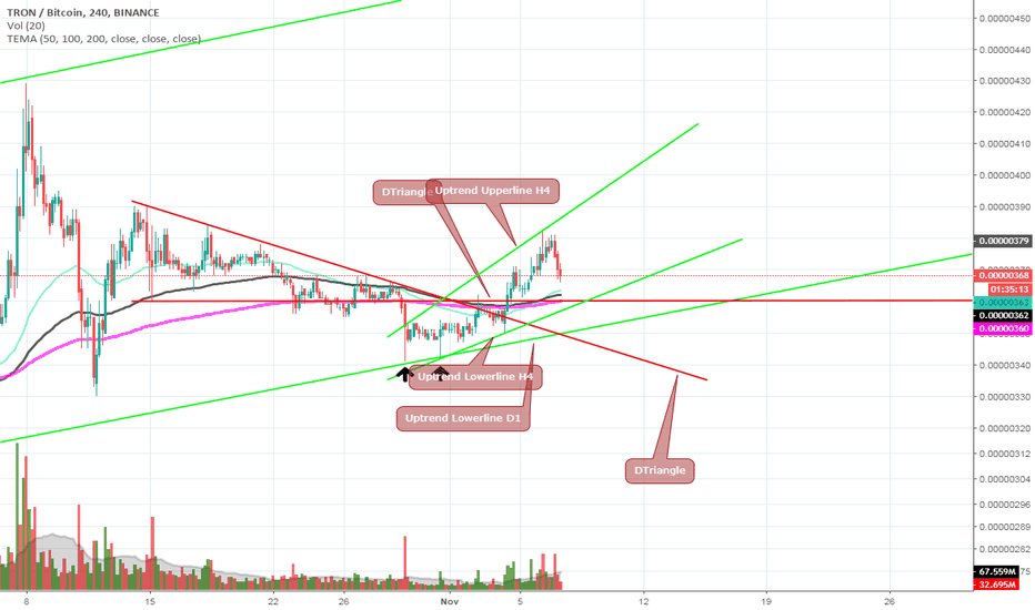 TRXBTC: If Supports Hold TRX Will Go to Moon