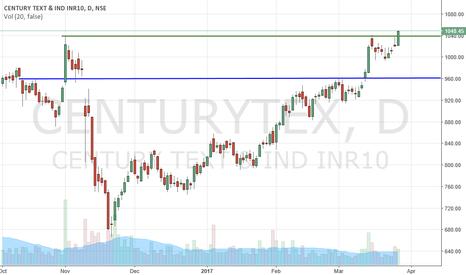 CENTURYTEX: Century Text Buy above 1042