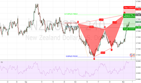 NZDUSD: Possible Butterfly Shot opportunity
