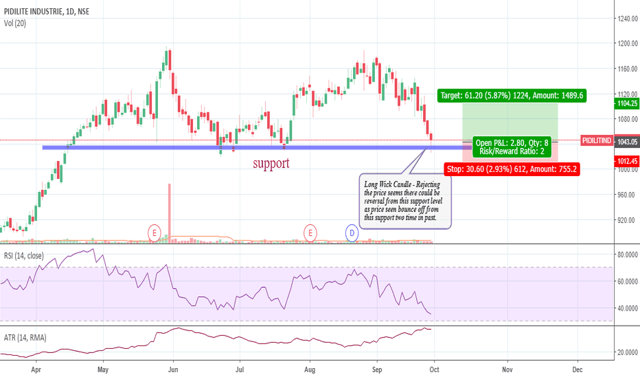 PIDILITIND: PIDILITE READY FOR REVERSAL