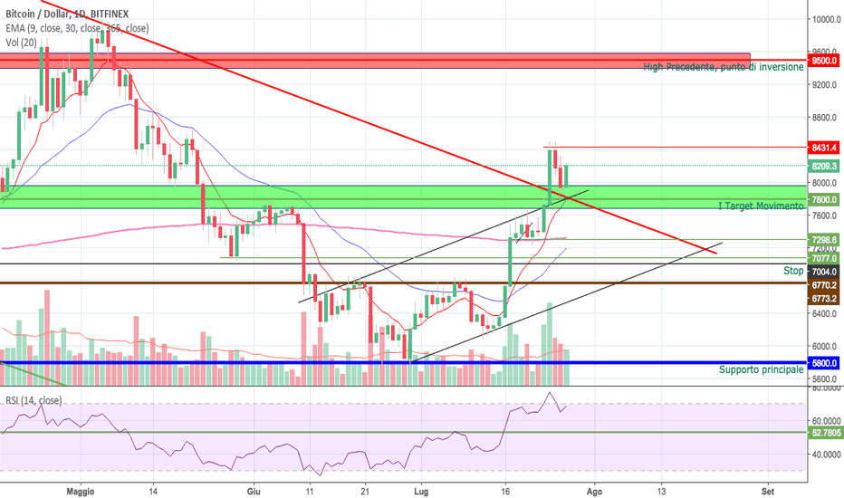 BTCUSD: BITCOIN - UN WEEK END DI RISPOSTE