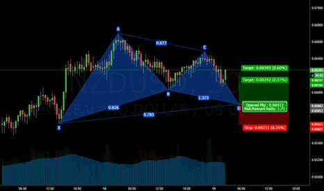 NZDUSD: NZDUSD Gartley Forming, Decent RR