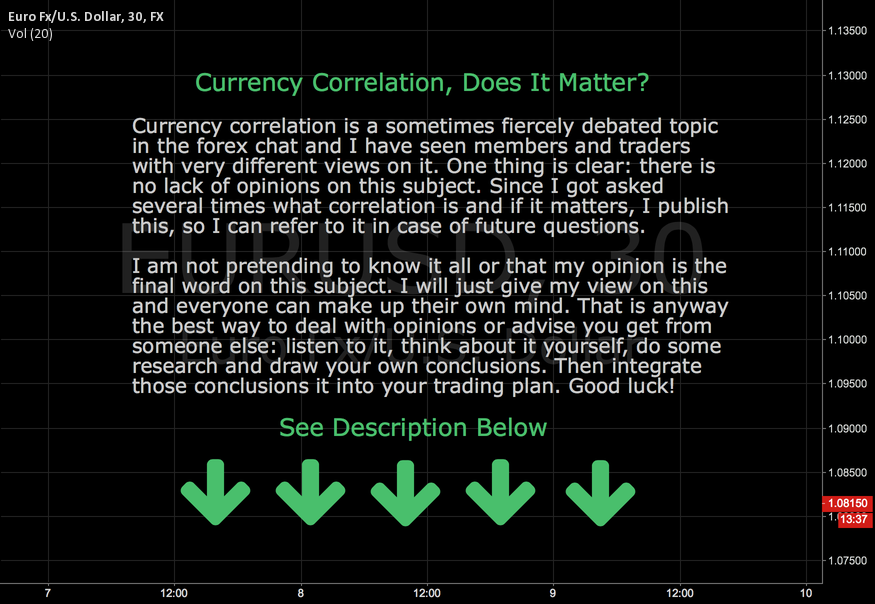 Currency Correlation, Does It Matter?