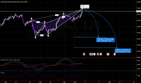 AUDCAD: AUDCAD Bearish Butterfly