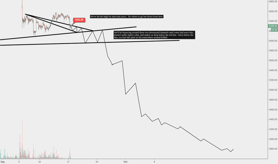BTCUSD: We've hit the end of the line.