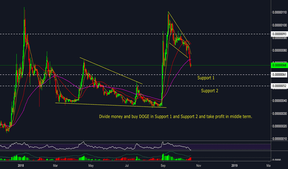 DOGEBTC: DOGE/BTC - Buy zone and middle term target