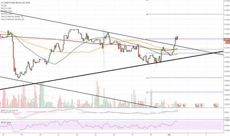 USDTRY: USD/TRY 1H Chart: Short-term appreciation expected