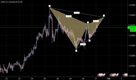 EURUSD: EUR/USD 60 Potential Gartley