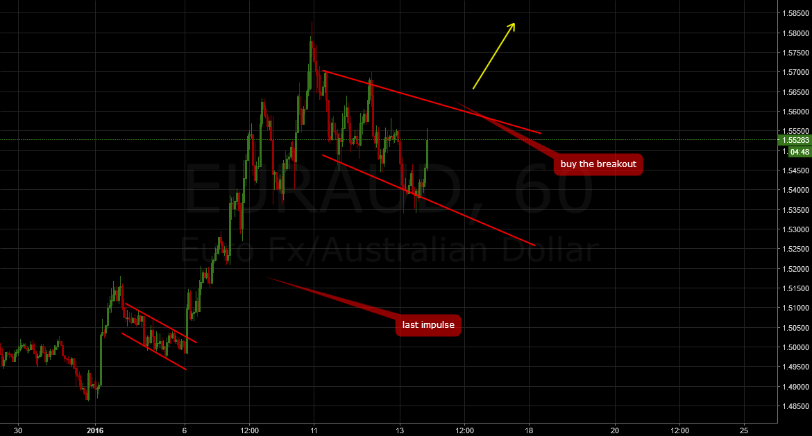 EURAUD: 1 hour Long setup