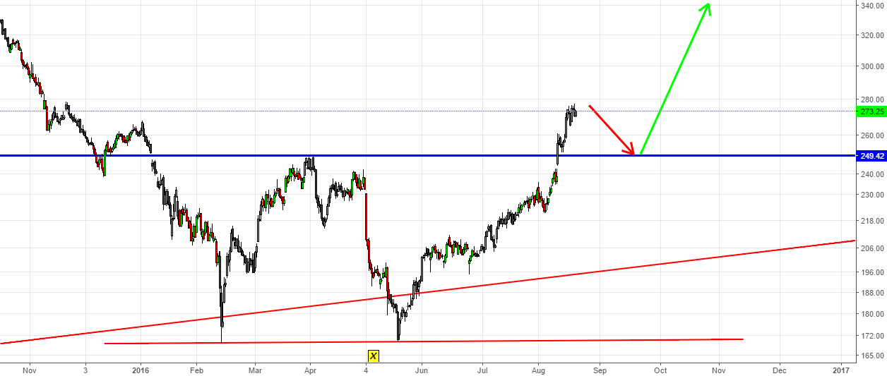 Adaniports-Let it hit the breakout point at 250