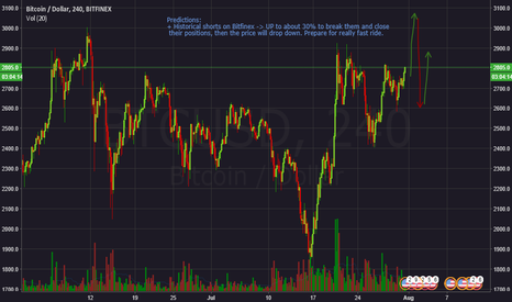 BTCUSD: BTC forecast near the fork