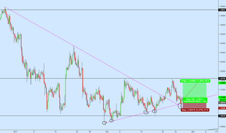 USDCAD: usdcad long Position Active at Support TL Rejection