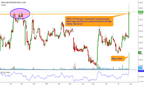 TNPL: TNPL - breaks out with News, keep an eye !