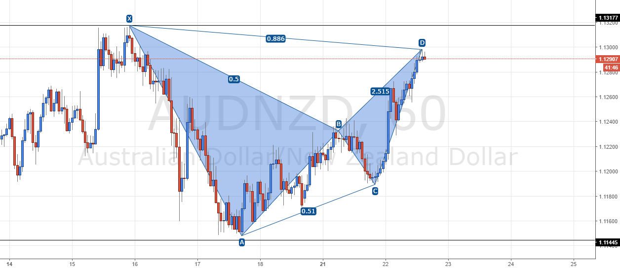 AUD/NZD - Bearish Bat