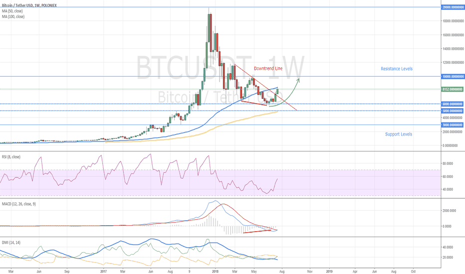 BTCUSDT: Bitcoin Weekly Chart - To the Moon?