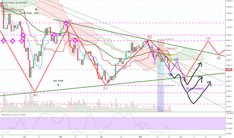 BTCUSD: BTC WAVE E ... consumed by fire, give rise to the Pheonix!