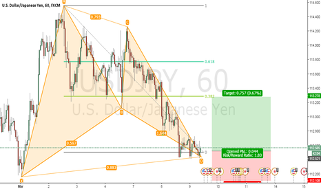 USDJPY: USD/JPY BUY - BAT