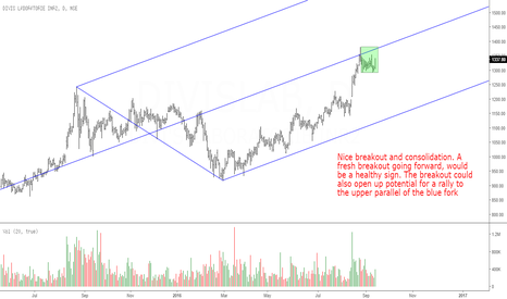 DIVISLAB: Divis Lab: Consolidation Near Medianline, Will it Breakout?