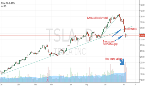 TSLA: Tesla's Fall Showing Signs of Continuation