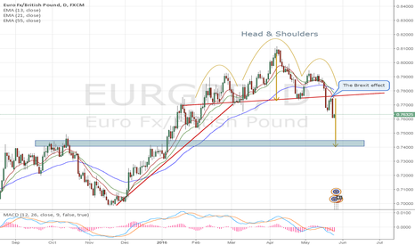 EURGBP: EURGBP: The Brexit effect is forming the(Daily) Head & Shoulders