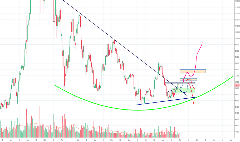 BTCUSD: Bitcoin has almost set it's long term low, not there yet