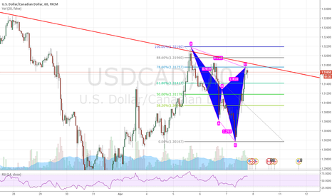 USDCAD: USDCAD Cypher  pattern at structure. 60 min