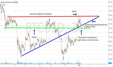 BTCUSD: Bitcoin Price Action On The Edge