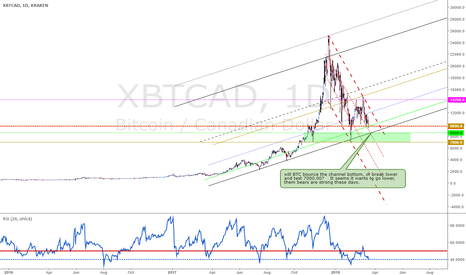 XBTCAD: Will we test 7000?  Them bears are strong.