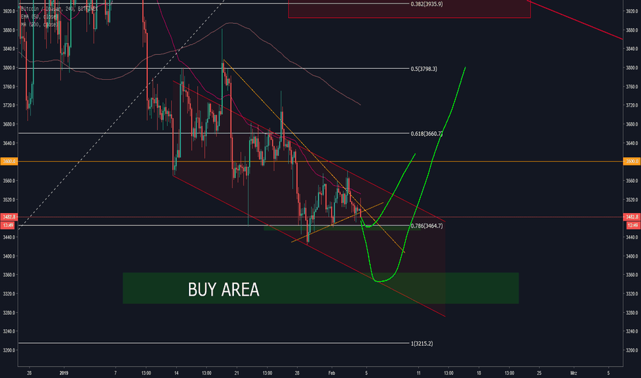 BTCUSD: BTC/USD Buy Area mit großem Support!
