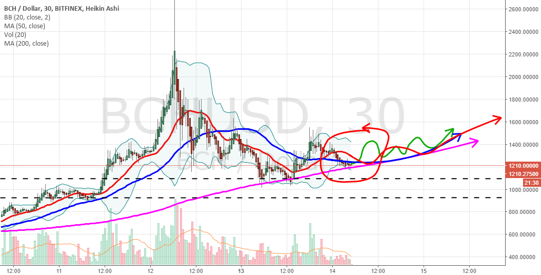 BCHUSD cup is forming on the 30 min chart