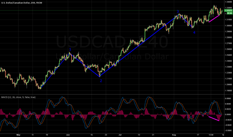 USDCAD: Possible Wave count on USDCAD