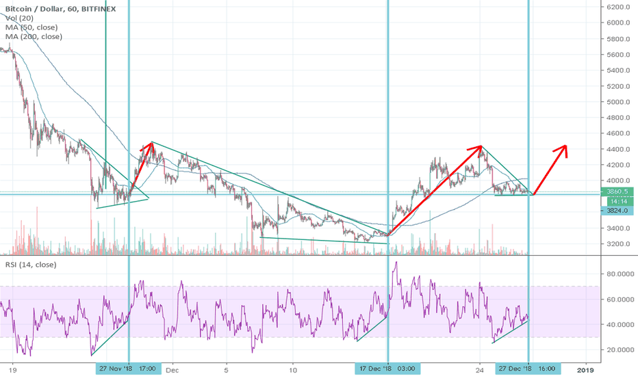 BTCUSD: Another chart showing inverted H&S develop.