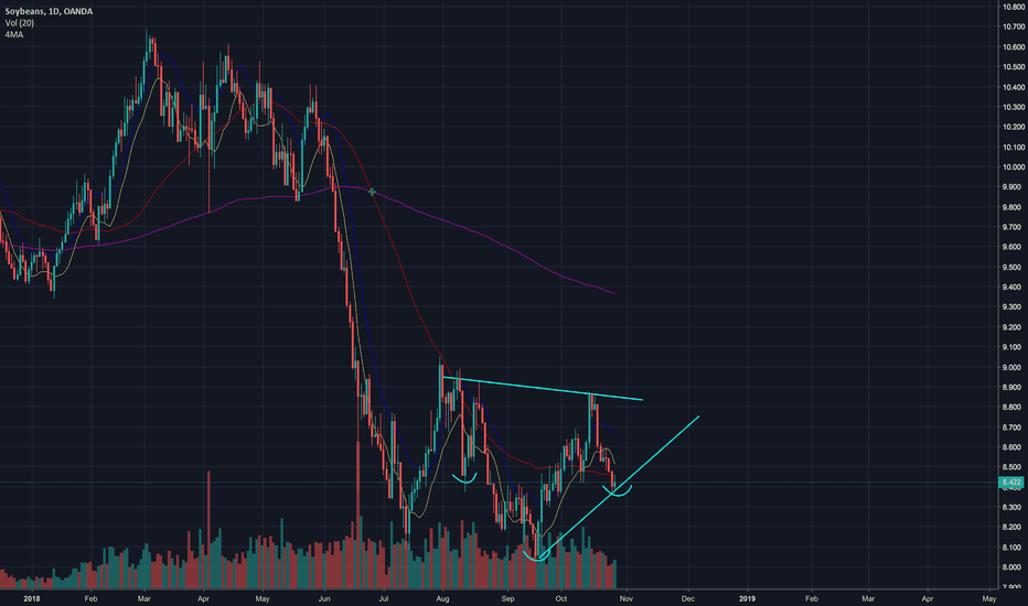 SOYBNUSD: Possible H&S Bottom forming