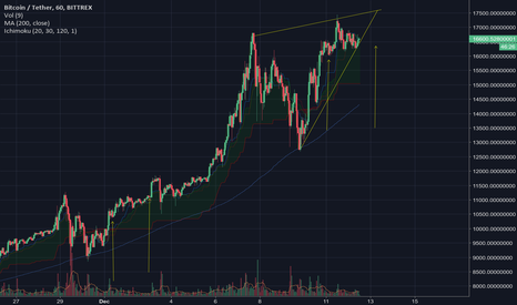 BTCUSDT: BTC/USD Rising Wedge