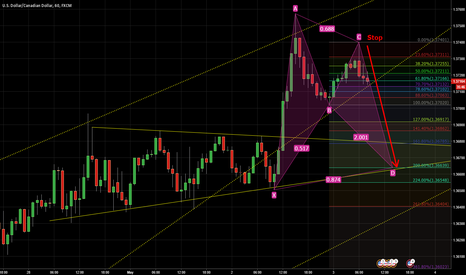 USDCAD: The perfect bat Pattern