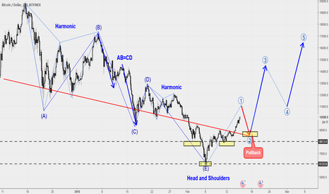 BTCUSD: BTCUSD Head and Shoulders wait for Pullback