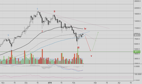 BTCUSD: Bearflagging for another move down (sorry guys :( )