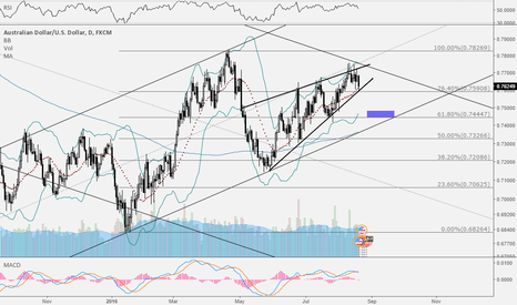 AUDUSD: AUD/USD Rising Wedge and Long-Term Channel Resistance