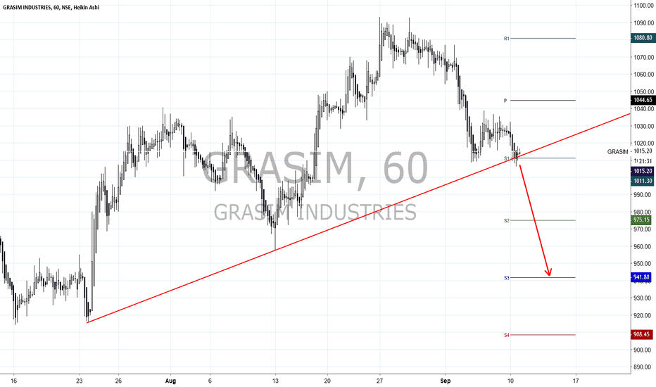 GRASIM: Grasim heading down
