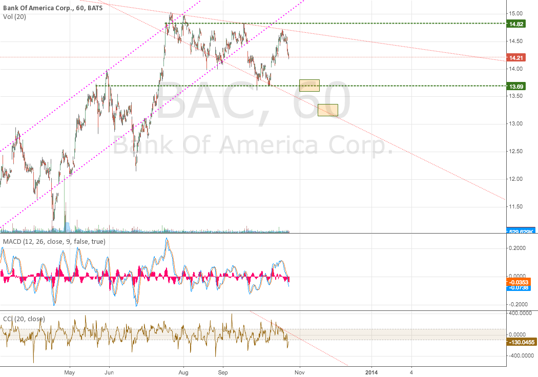 BAC Dropping to 13.69 or lower