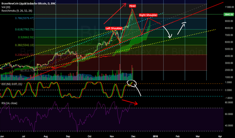 BLX: Bitcoin head and shoulders + dodji + RSI divergence +Cycle