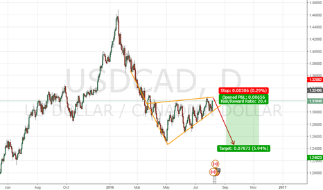 USDCAD: USDCAD Rising Wedge + 20% in one trade?