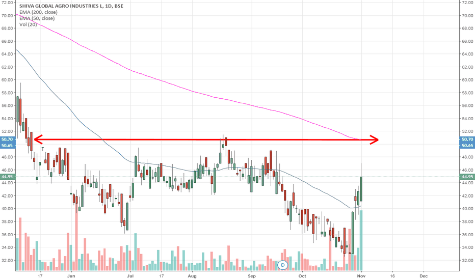 SHIVAAGRO: Resistance Zone around 50