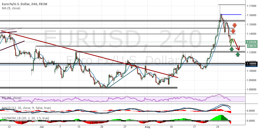 Analysis and forecasts for EUR / USD 26/08/15