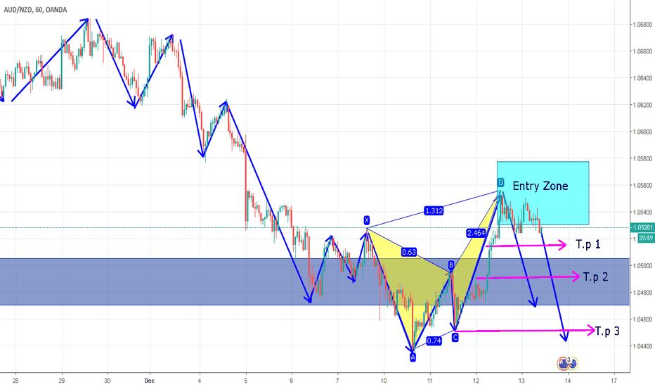 AUDNZD: Harmonic pattern formation