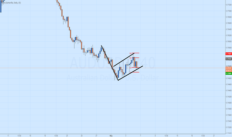 AUDUSD: Inverted Flag Developing