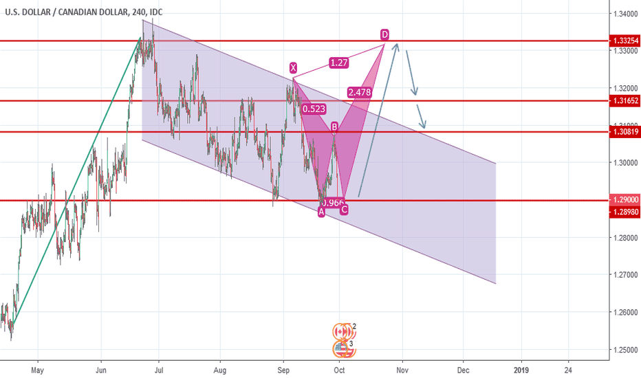 USDCAD: Possible Butterfly Pattern