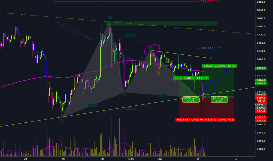 XBTUSD: BTCUSD-Bullish Gartley-Long-Alış